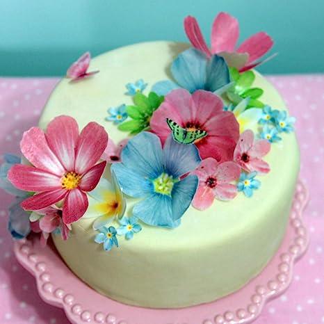 Edible Fondant Icing pink Roses Cake Topper X 10