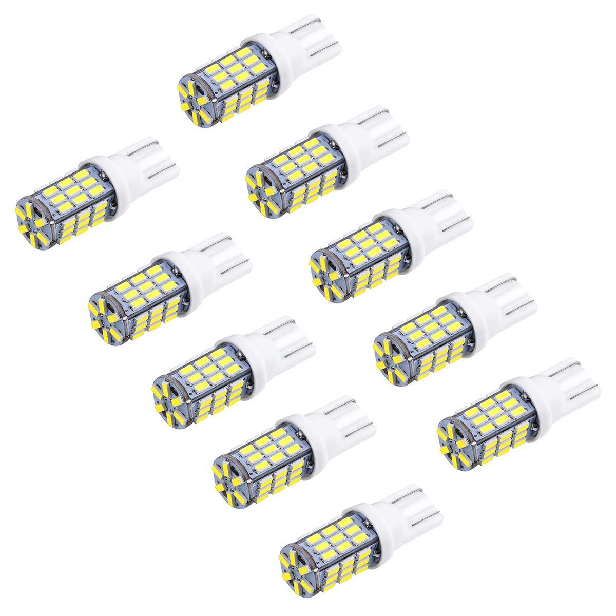 LegendTech 10PC Lampadine LED auto - lampadine - bianco LED luci dell'automobile Bulb - 3014SMD T10 5W 500LM DC12V - per Interior Segnale, Cupola, Tronco, Cruscotto, Diretto Replacment Interni Segnale Lettura Cruscotto