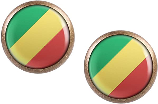 Democratic Republic of Congo Country Flag Enamel Pin Badge