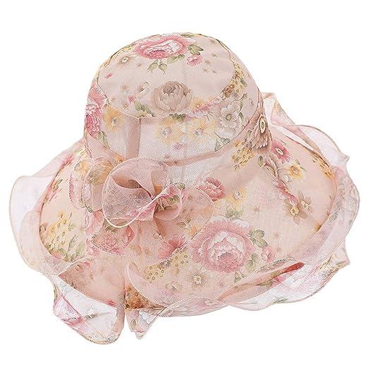 1f6e9aa014c011 iLXHD Women's Church Derby Dress Fascinator Bridal Cap British Tea Party  Wedding Hat Beige