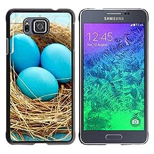EJOY---Cubierta de la caja de protección la piel dura para el / Samsung ALPHA G850 / --Huevos azules Nido