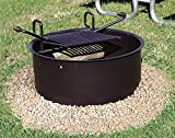Leisure Craft LCIDG11 Drop Grate Fire Ring, Black