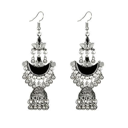 52f9f0109 Amazon.com: Toponly Temperament Exaggerated Earrings Fashion Sleek Trend  Silver Matte Bohemian Geometric Pendant Stud: Home & Kitchen
