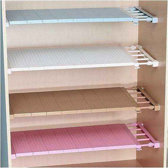 brillabenny estantería Estante blanca extensible extensible 50 – 80 cm separador X Armario ropero, Espacio de almacenaje organizador Storage White: Amazon.es: Hogar