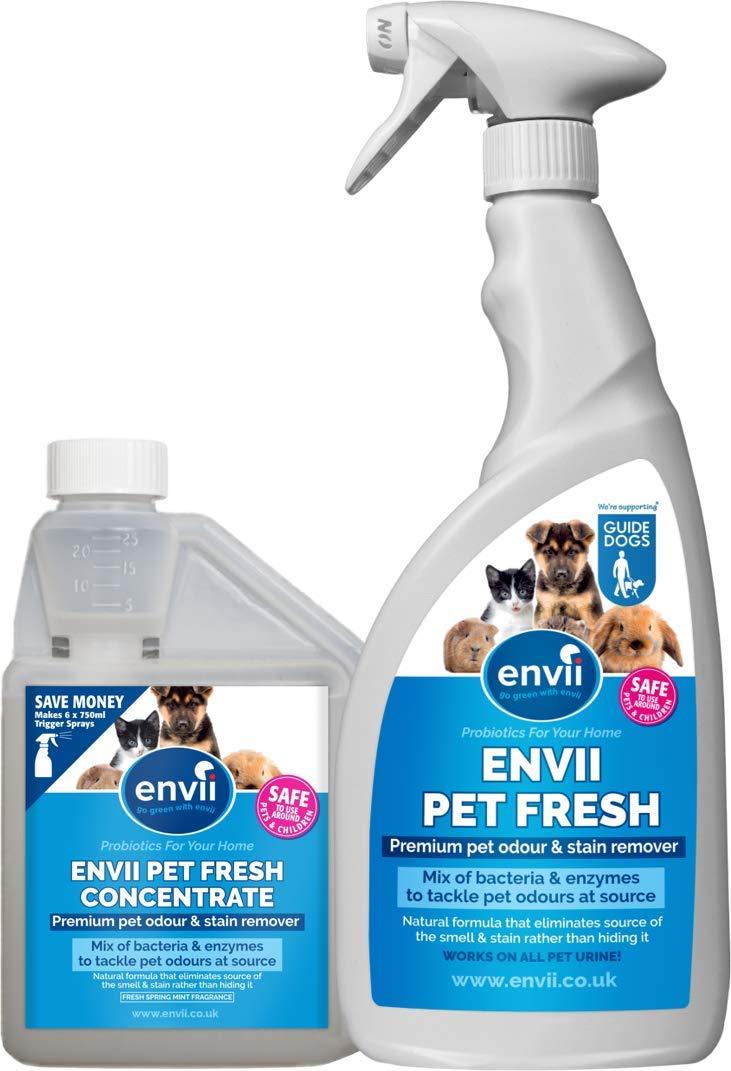 Envii Pet Fresh – Elimina Perro Manchas y Olores, Quitamanchas & Neutralizador con Enzimas, para Cualquier Accidente de su Perro o Gato – 1x 500ml de ...