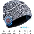 Bluetooth Beanie Hat Headphones Headset, Wireless 4.1 Siri Voice Control Built-in HD Stereo Speakers & Microphone, Musical Knit Cap for Running, Outdoor Sports, Boys Girls Christmas Gifts(Gray)