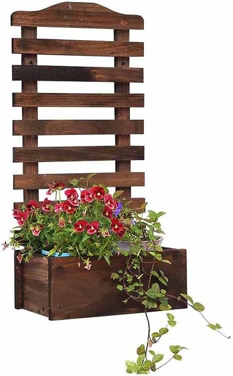 Flor de la Pared Planta Olla Rack Stand Cesta Colgante Maceta de Madera Envase Decoración Estante Sala de Estar Balcón Interior Jardín al Aire Libre Valla Retro Suculentas: Amazon.es: Hogar
