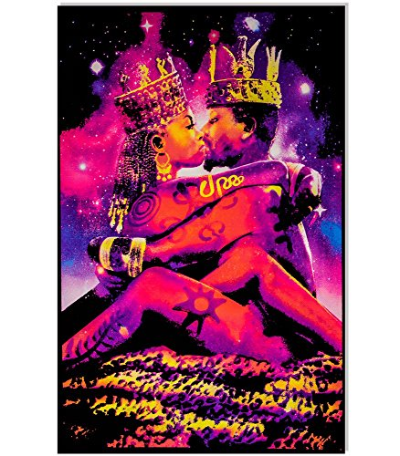 King & Queen Blacklight Reactive Poster Blacklight