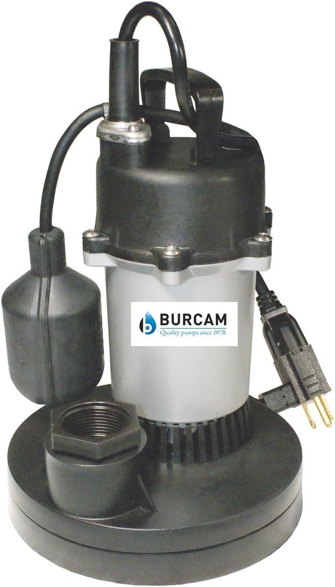 BURCAM 300508Z 1/4 HP Zinc Submersible Sump Pump