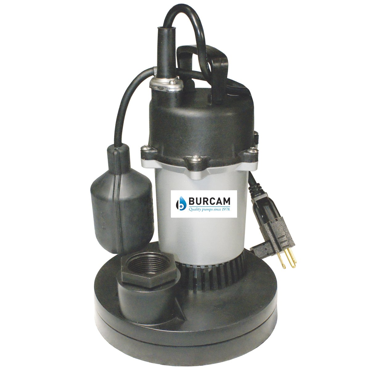 BURCAM 300700Z 1/2 HP Zinc Series Submersible Sump Pump 1-1/2'' Npt Silver by Bur-Cam