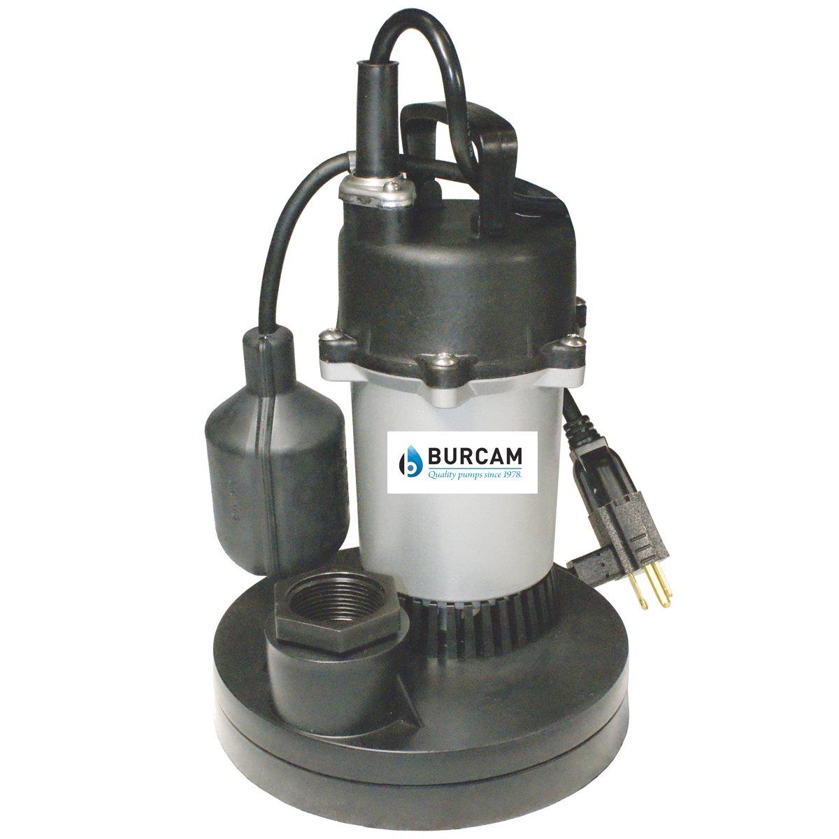BURCAM 300700Z 1/2 HP Zinc Series Submersible Sump Pump 1-1/2'' Npt Silver