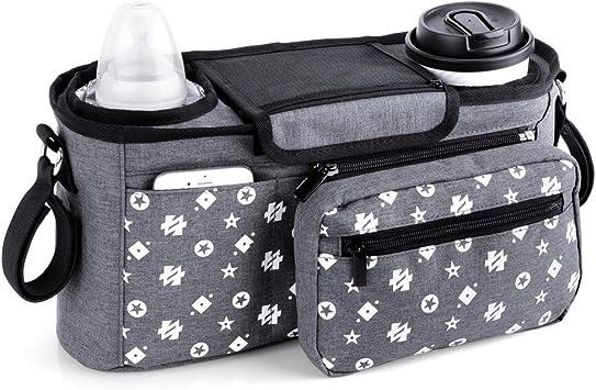 Organizador de cochecito con portavasos aislado, bolsa ...