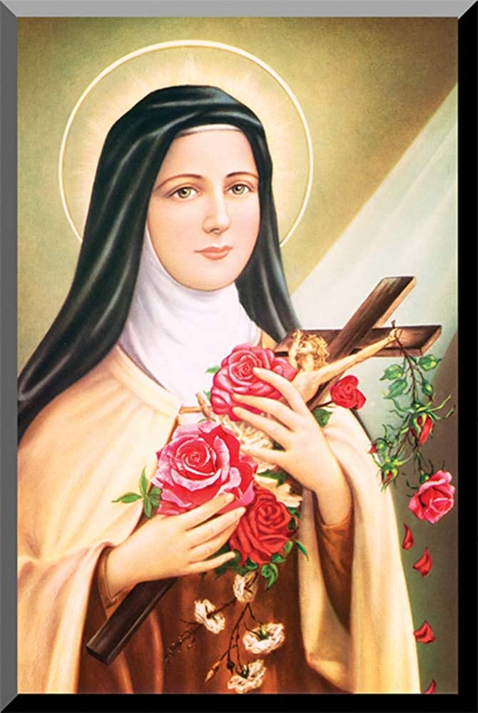 Hail Mary Gifts St. Therese of Lisieux Wall Plaque