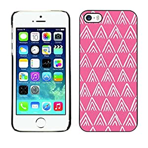 [Neutron-Star] Snap-on Series Teléfono Carcasa Funda Case Caso para iPhone 5 / 5S [Rose Blanc Motif Polygone]