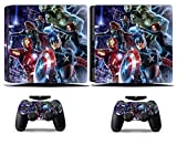 Cosines PS4 Slim Stickers Vinyl Decal Protective Console Skins Cover for Sony Playstation 4 Slim and 2 Controllers Avengers Super Hero