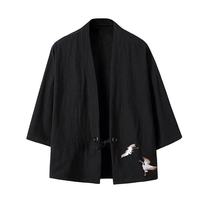 Amazon.com: Hzcx Fashion - Kimono para hombre (mezcla de ...