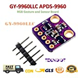 TECNOIOT I2C GY-9960LLC APDS-9960 RGB Gesture and Sensor Board Module Breakout