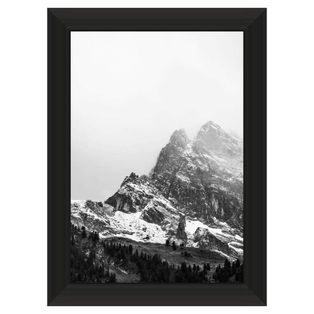 Premium 11 3/4 x 16 1/2 Satin Black Metal Frame Profile #99