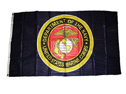 3x5 USMC Marines Marine Corps Department Of The Navy Blue Knitted Flag 3/'x5/'