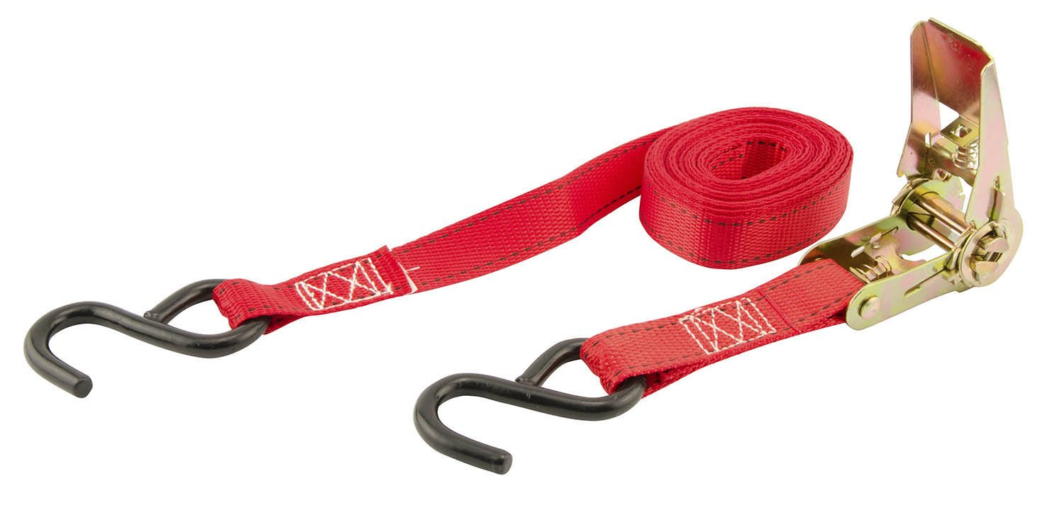 266008 Pack of 4 Erickson 31418 Red 1 x 15 Ratcheting Tie-Down Strap,