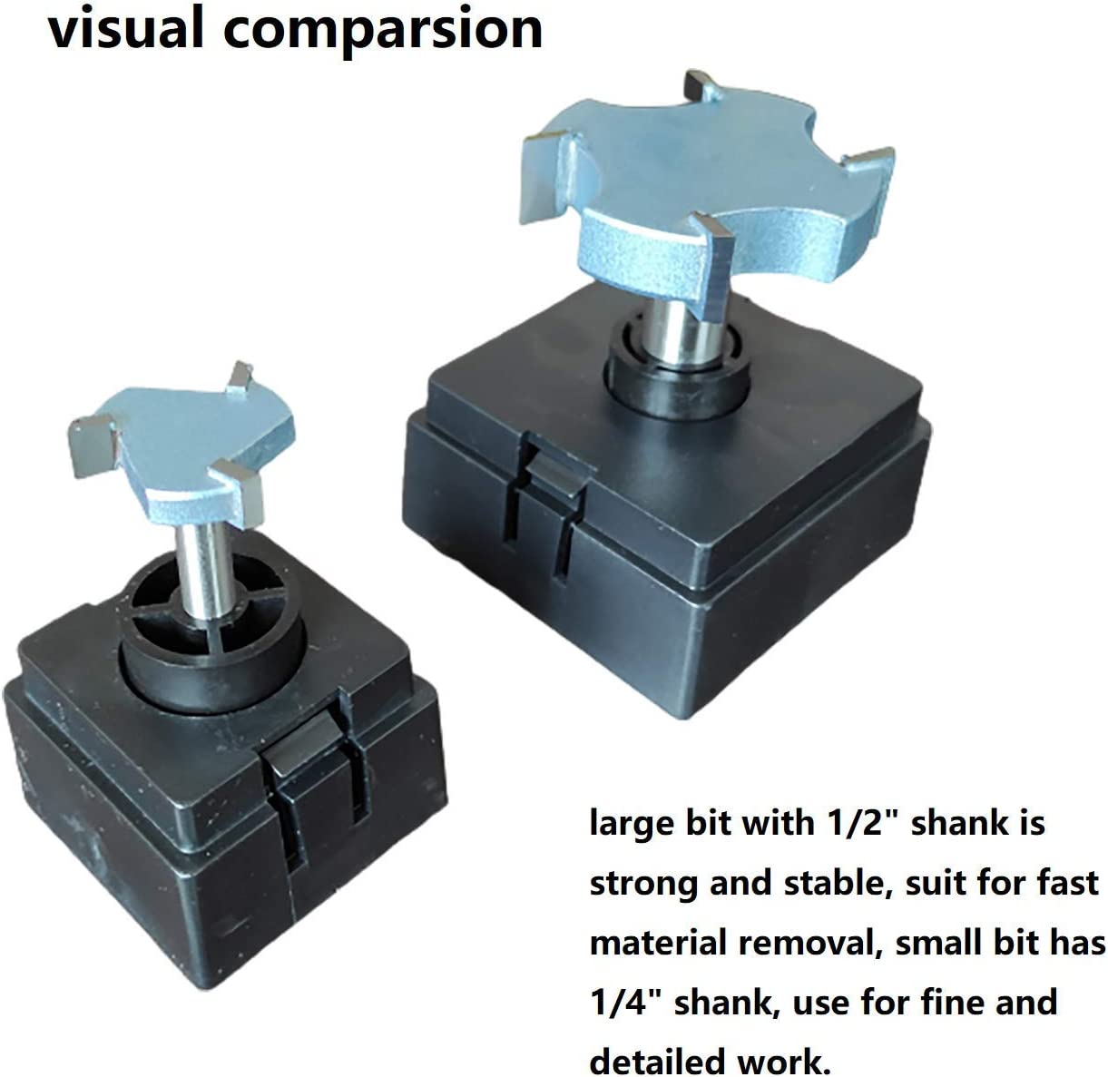 3 Wing 1//4 Shank CNC Spoilboard Surfacing Router Bit 1//4 Shank Slab Flattening bit