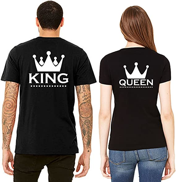 : SR King and Queen Back Side Printed T Shirts