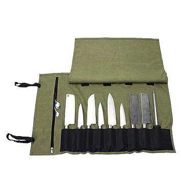 Amazon.com: QEES Chef Knife Roll(15 Slots), Heavy Duty Knife ...