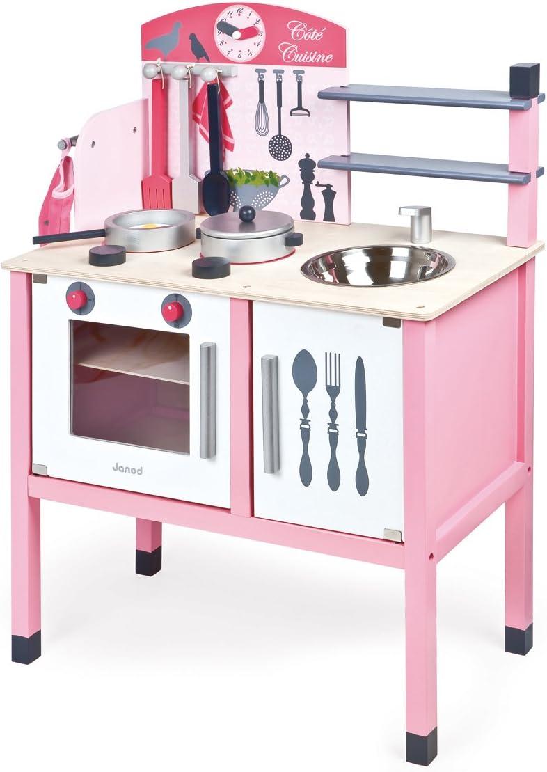 Janod-Mademoiselle Maxi Cocina de Juquete, multicolor, 58 x 30 x 78 cm (Jura Toys J06533)
