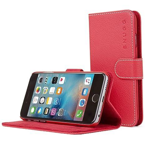 iPhone 6/6S caso, SnuggFunda de piel sinttica funda con garanta de por vida para Apple iPhone 6, Rojo