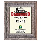 BarnwoodUSA Rustic Signature 12×18 Inch Picture Frame – 100% Reclaimed Wood, Weathered Gray Review