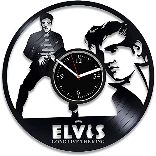 Clock Elvis Presley Vinyl Wall Clock King Of Rock and Roll Clock Music For Man Elvis Presley Vinyl Record Clock King Wall Clock Vintage Birthday Idea Elvis Presley Xmas For Her