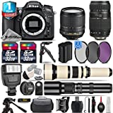 Holiday Saving Bundle for D7100 DSLR Camera + 650-1300mm Telephoto Lens + 18-105mm VR Lens + Tamron 70-300mm Di LD Lens + 500mm Telephoto Lens + 2 Of 32GB Card - International Version