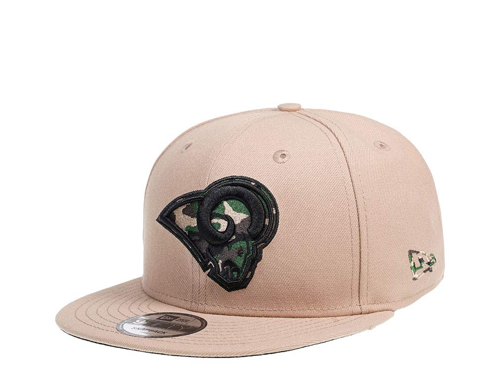 A NEW ERA Era Los Angeles RAMS Camel Camo 9Fifty - Gorra: Amazon ...