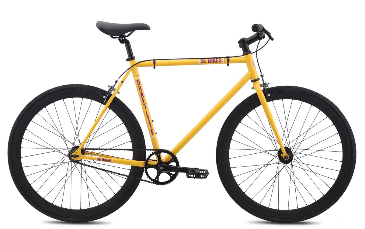 SeドラフトLite single-speed City Bike – 2015 B00VR60HKYイエロー 49