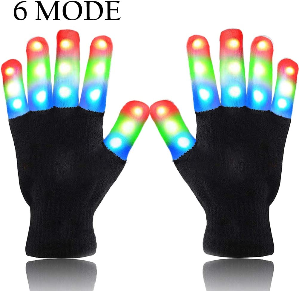 Light-up Party Multicolor LED Gloves Kids Light up Party Supplies for Christmas Dance Costumes Kids Games