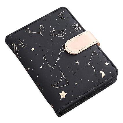LEEQ Cuaderno de Piel sintética con diseño de constelación ...