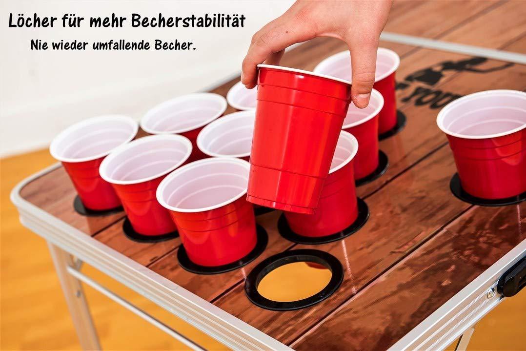 Mesa de Beer Pong Premium de BeerBaller - diseño en Madera ...