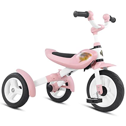 2606dafaf9f Amazon.com   Tricycle 3 Wheels 3-5-6 Years Old Children Baby Stroller  Bicycle Lightweight Foldable Boys And Girls Toddler Pedal Ride-On Bike  Trike Pink