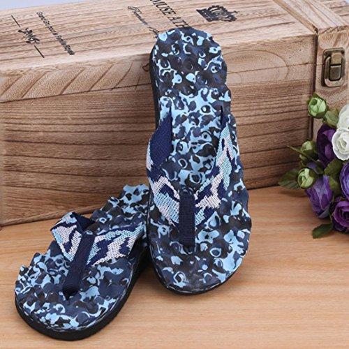 Chaussures intérieures Tongs Tongs Camouflage Fulltime® Bleu Pantoufle Summer extérieures et Men qfwnAIU