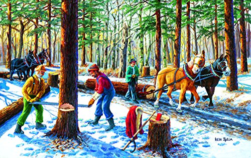 SunsOut Lumberjacks 550 Piece Jigsaw Puzzle