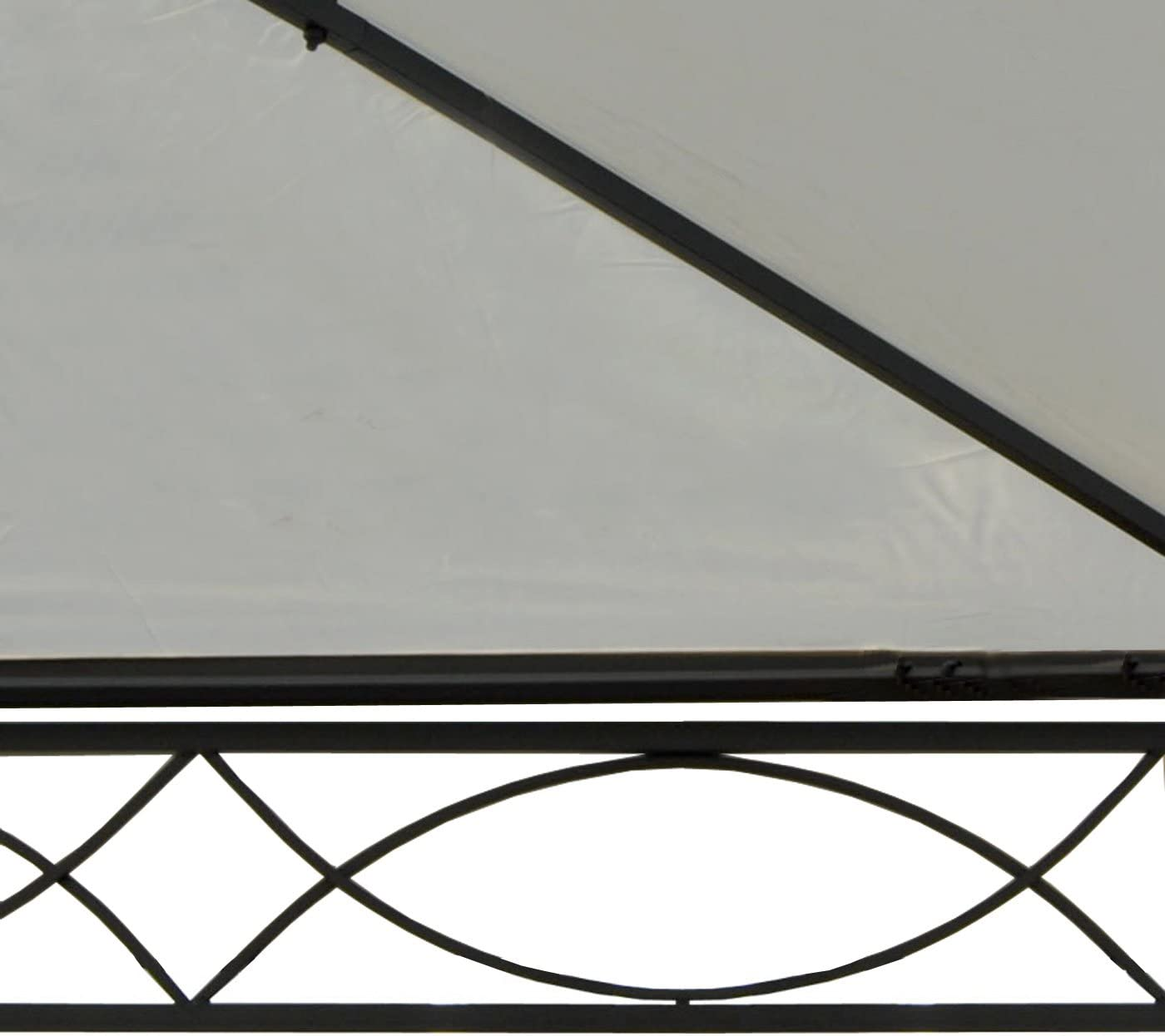 Pergola Cadiz, carpa, estructura estable de 7 cm 5 x 3 m ~ Crema ...