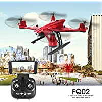 ECLEAR RC Quadcopter Mini Drone, JJRC 4 Channel 6-Axis Gyro RTF Helicopter with 0.5MP HD Camera WiFi FPV 3D Roll Toys For Adult Kids Aerial Photography Racing,Red