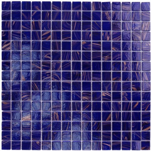 Cobalt Blue Copper Glass Tile 34 x 34
