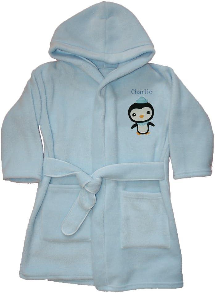 Octonauts Peso Applique Luxury Personalised Super soft Fleece Dressing gown//Bath robe. 1-2, Blue
