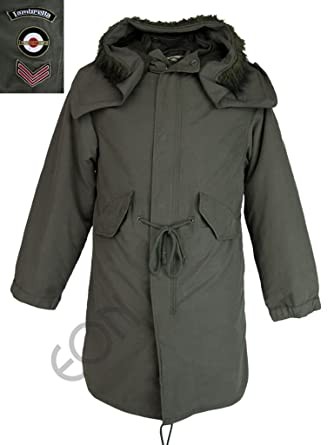 Mens Lambretta Mod/ Retro Fish Tail Parka Jacket/ Coat Hooded M51 ...