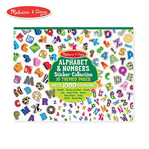 (Melissa & Doug Sticker Collection - Alphabet and Numbers, 1000 Letter and Number Stickers)