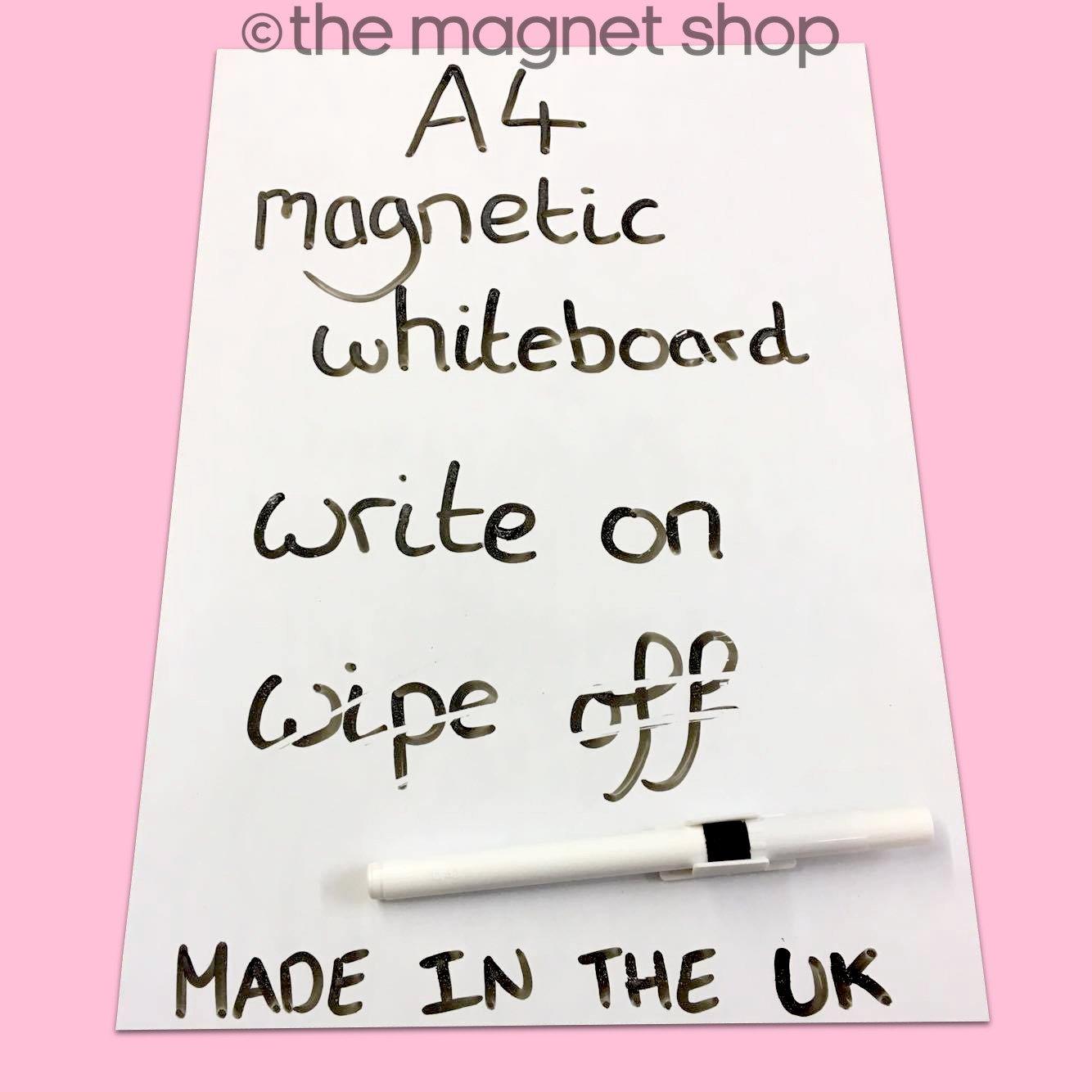 A4 pizarra blanca magn/ética pizarr/ón pizarra im/án del refrigerador Note Flexible grande
