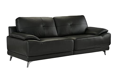 Divano Roma Furniture – Modern Living Room Leather Sofa Grey