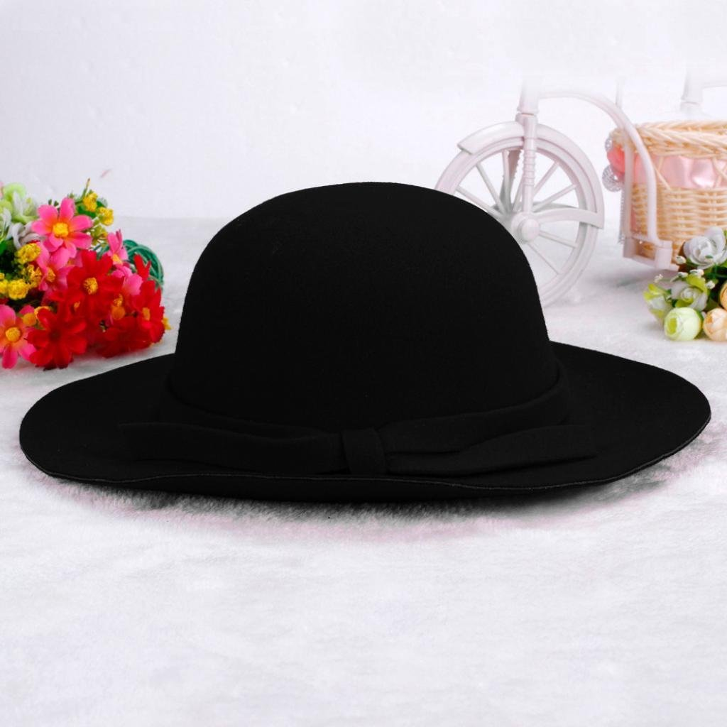78f55c32898 Amazon.com  FEITONG Kids Worsted Soft Visor Bucket Hat Girl Wave Casquette  Sun Hat (black)  Clothing