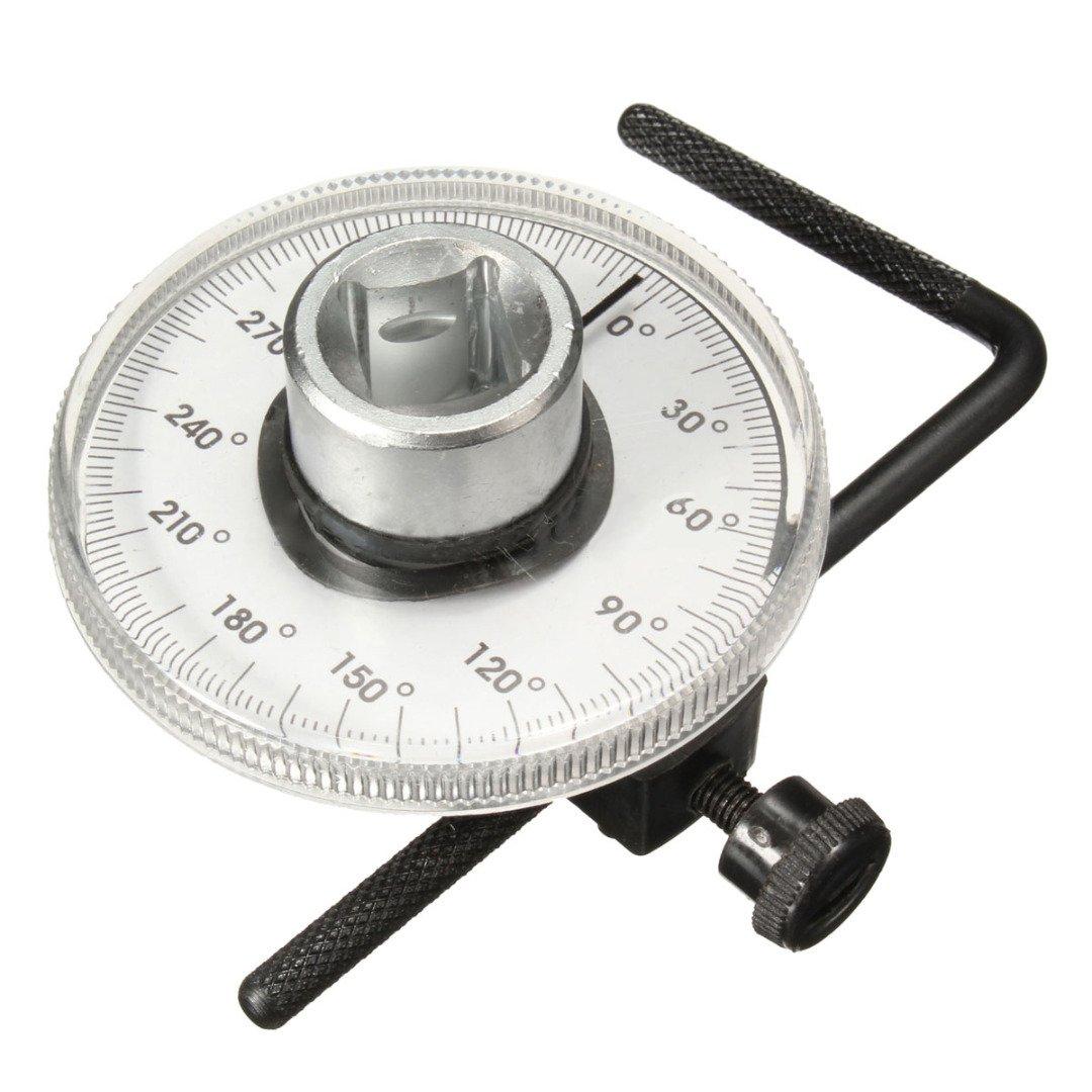 ERTIANANG 1pcs Adjustable 1/2 inch Drive Torque Angle Gauge Car Auto Garage Tool Set Measurer Tool Wrench Hand Repair Tools